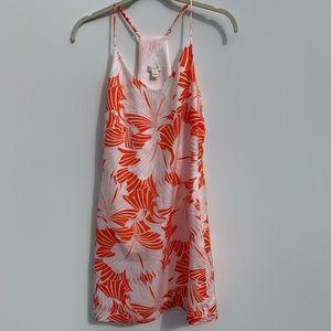 J.Crew orange and white floral slip dress